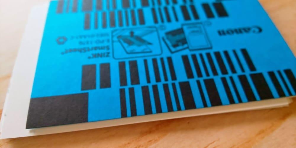 インスピックの青い紙のバーコード